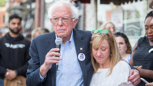 Democratic presidential candidate, U.S. Sen. Bernie Sanders (D-VT) Joins Group Of People With Diabetes On Trip To Canada For Affordable Insulin