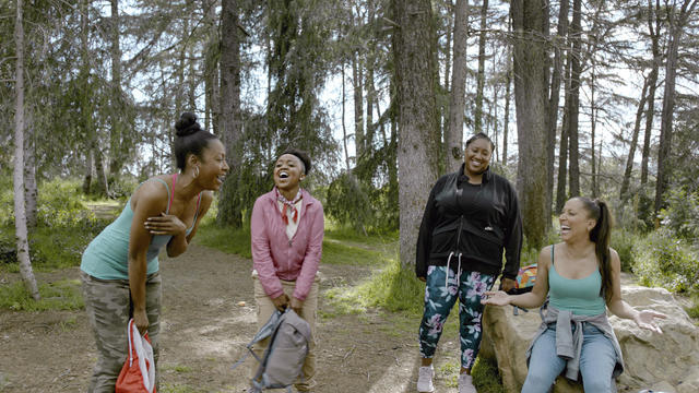 """A scene from Robin Thede's series, """"A Black Lady Sketch Show,"""" on HBO."""