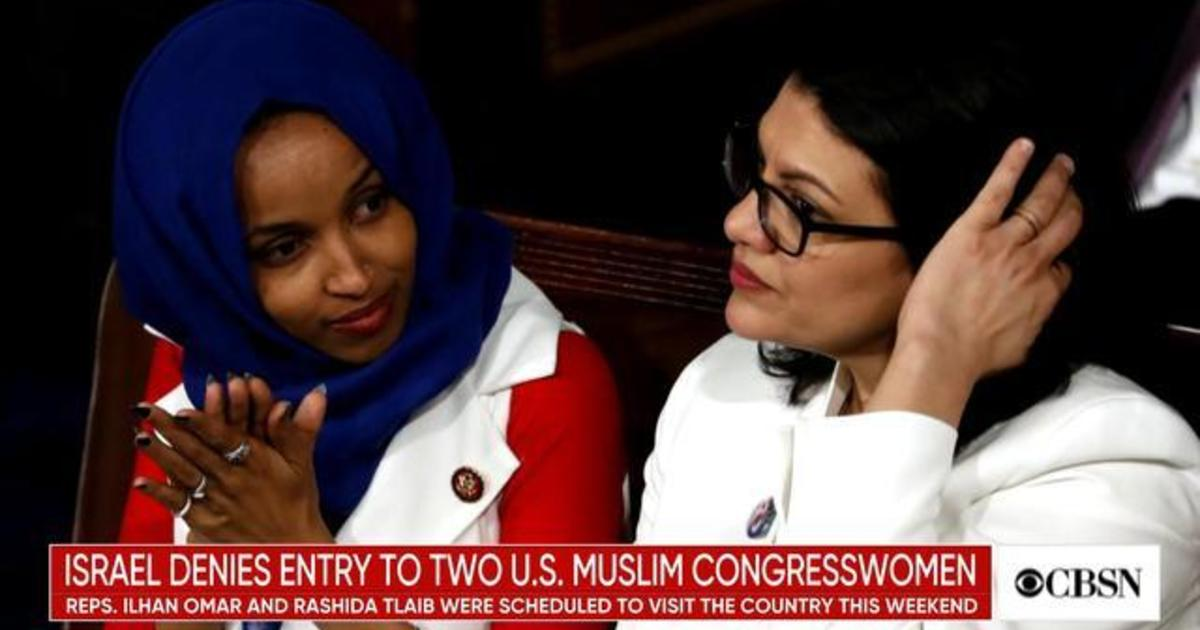 Israel bars Congresswomen Tlaib and Omar from visiting
