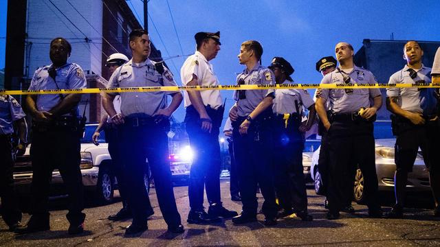 APTOPIX Gunman Firing at Police