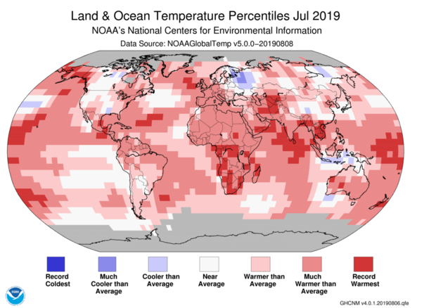 July was hot  How hot? 197 billion tons of ice melted in