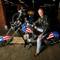 "FILE PHOTO: Fonda poses for a portrait on a replica of the ""Captain America"" bike in Glendale"