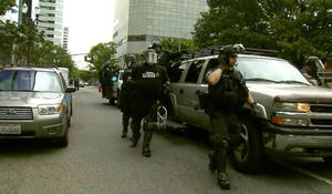 Portland rally met with police presence amid fears of violence