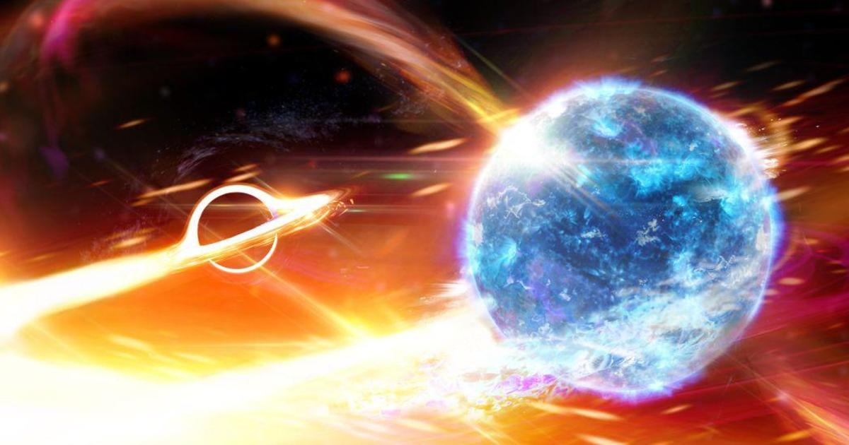 Black hole devouring star: Scientists believe they detected a black hole swallowing a neutron star, causing ripples in space and time