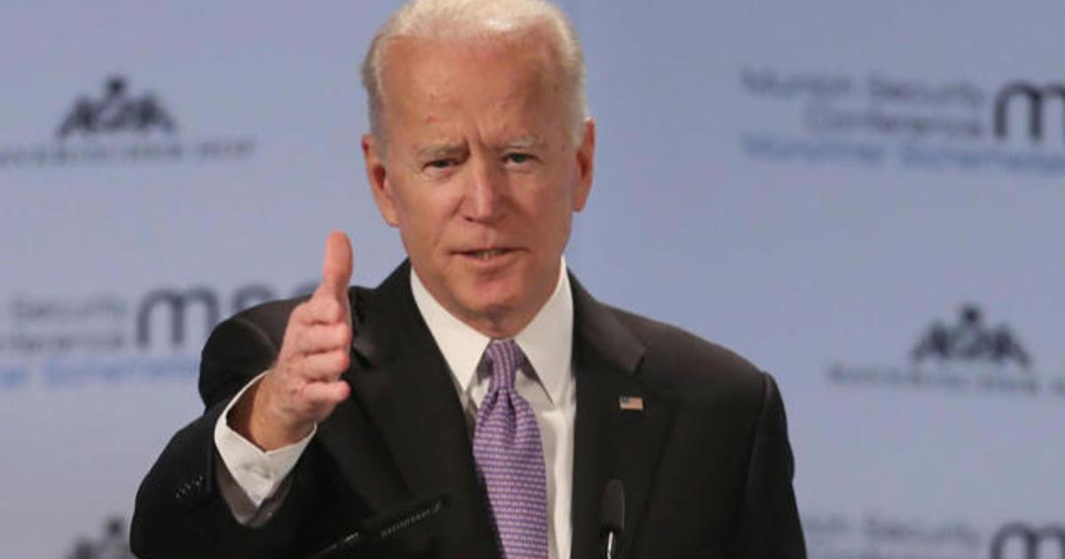 Joe Biden tells media