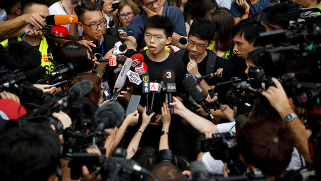 FILE PHOTO: Demonstration demanding Hong Kong's leaders to step down and withdraw the extradition bill in Hong Kong