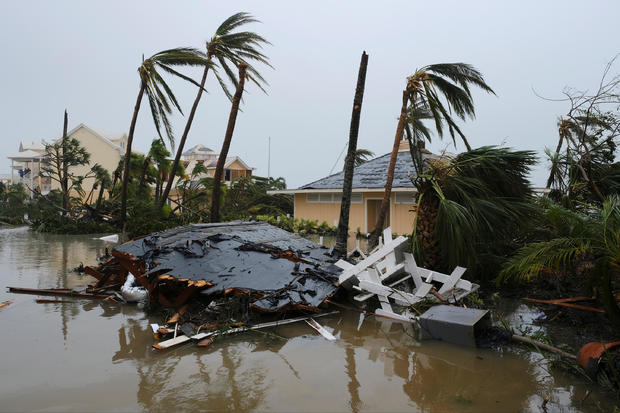 Damage at the Abaco Beach Resort during the eye of  Hurricane Dorian in Marsh Harbour