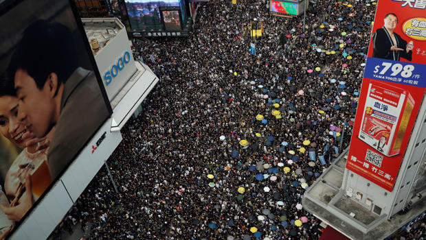 FILE PHOTO: Anti-extradition demonstrators march to call for democratic reforms, in Hong Kong