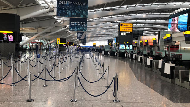 Heathrow Airport's T5 sits empty after strike action by BA pilots in London