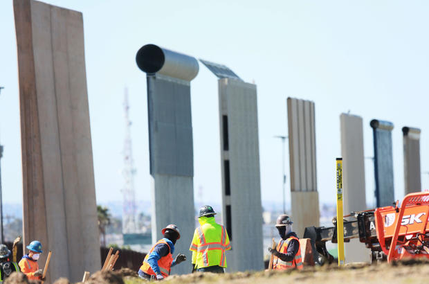 Construction Continues On Secondary Border Wall On California-Mexico Border