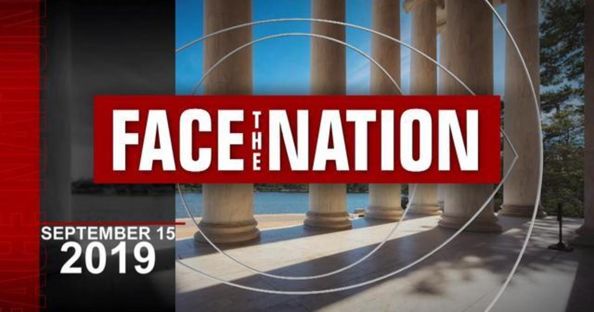 """Open: This is """"Face the Nation,"""" September 15"""