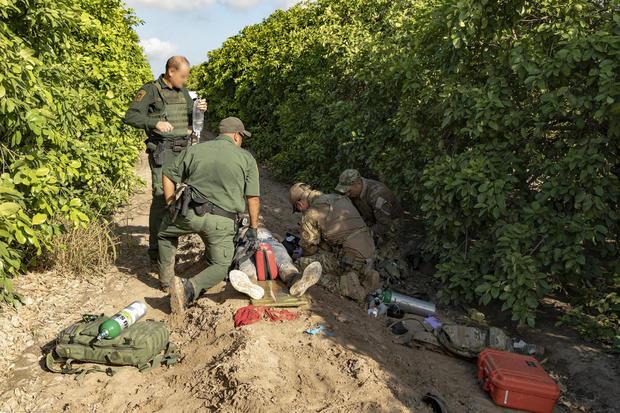 U.S. Border Patrol BORSTAR Agent Renders Medical Aid