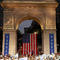 U.S. Senator and democratic presidential candidate Elizabeth Warren speaks at Washington Square Park in New York
