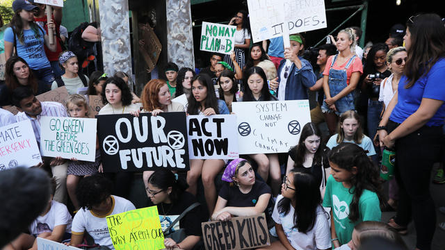 Youth Climate Activists Protest Outside United Nations