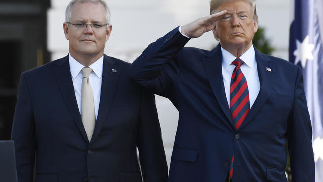APTOPIX Trump US Australia State Visit