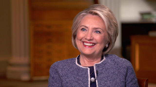 "Hillary Clinton is seen in an interview airing on CBS' ""Sunday Morning"" September 29, 2019."