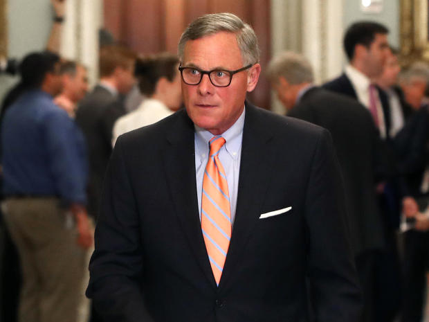 Senate Intelligence Committee Chairman Richard Burr leaves the Republican weekly policy luncheon on Capitol Hill June 4, 2019, in Washington.