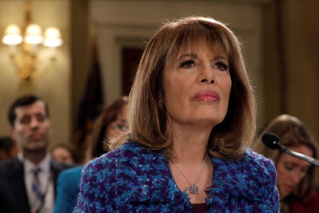 Rep. Jackie Speier (D-CA) waits to testify before a House Administration hearing