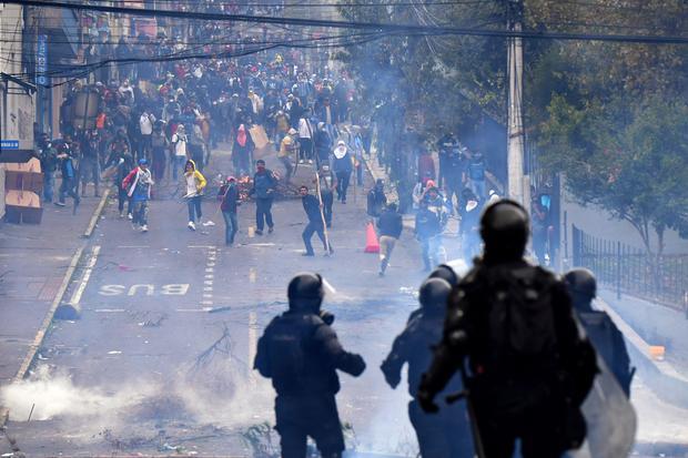 ECUADOR-ECONOMY-IMF-FUEL-PROTEST