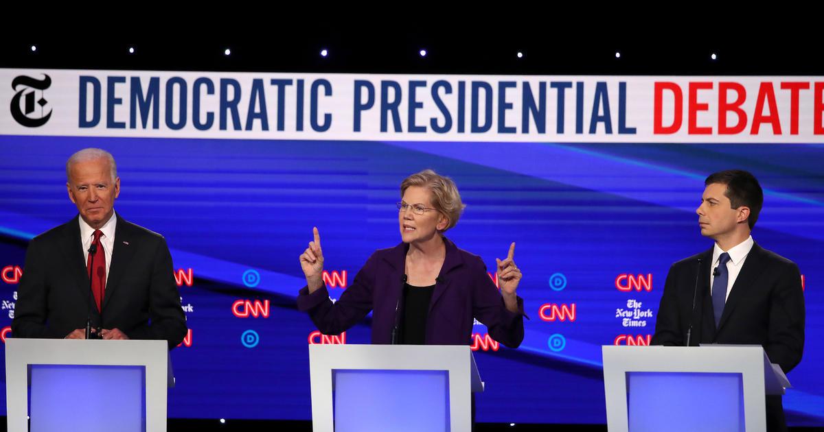 Kampanye 2020: Demokrat Target Presiden Trump, Sesama Calon Elizabeth Warren Dalam Debat Keempat