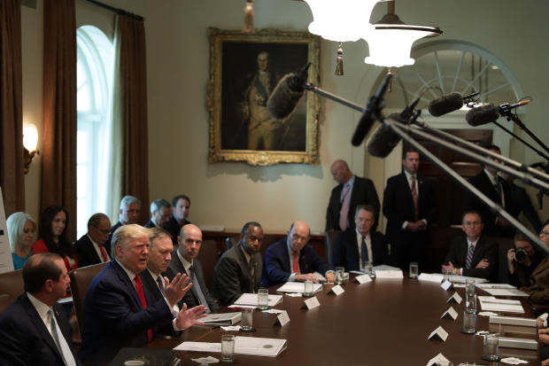 President Donald Trump Meets With His Cabinet At The White House