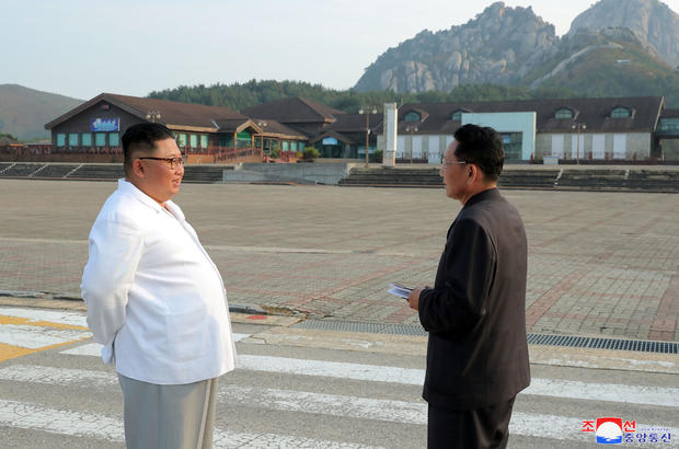 North Korean leader Kim Jong Un inspects the Mount Kumgang tourist resort, North Korea