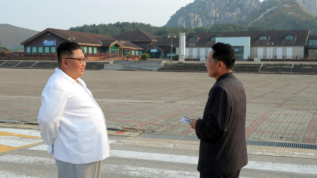 North Korean leader Kim Jong Un inspects the Mount Kumgang tourist resort, North Korea