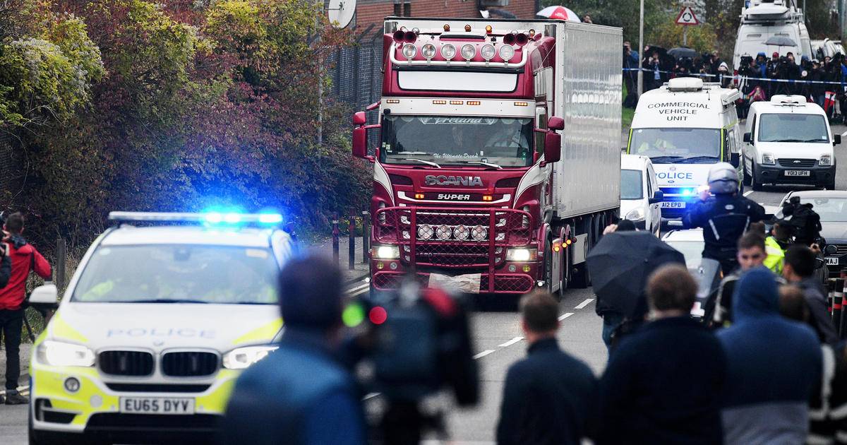 39 people found dead in truck in England were all Chinese