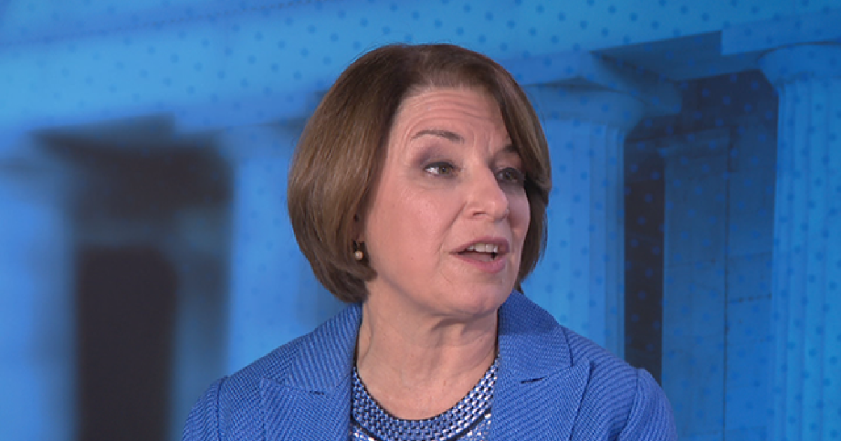 Amy Klobuchar rebuffs notion that a woman can't beat Trump, says Pelosi does it every day