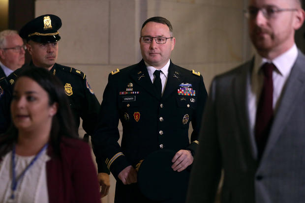 Director For European Affairs At The National Security Council Lt. Col. Alexander Vindman Testifies In Impeachment Inquiry