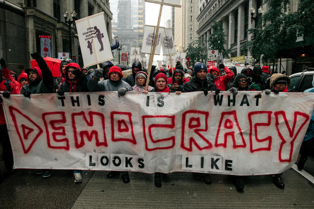 Teachers Rally For Missed Days After Deal Is Reached In Chicago Strike