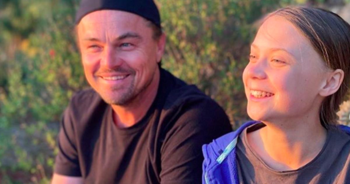 """Leonardo DiCaprio calls Greta Thunberg """"a leader of our time"""""""