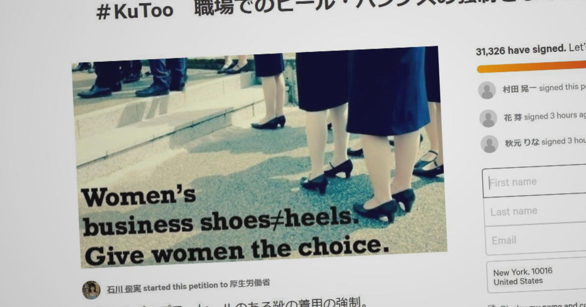Women in Japan fight expectation to wear high heels with #KuToo movement