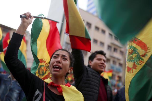 Evo Morales protesters