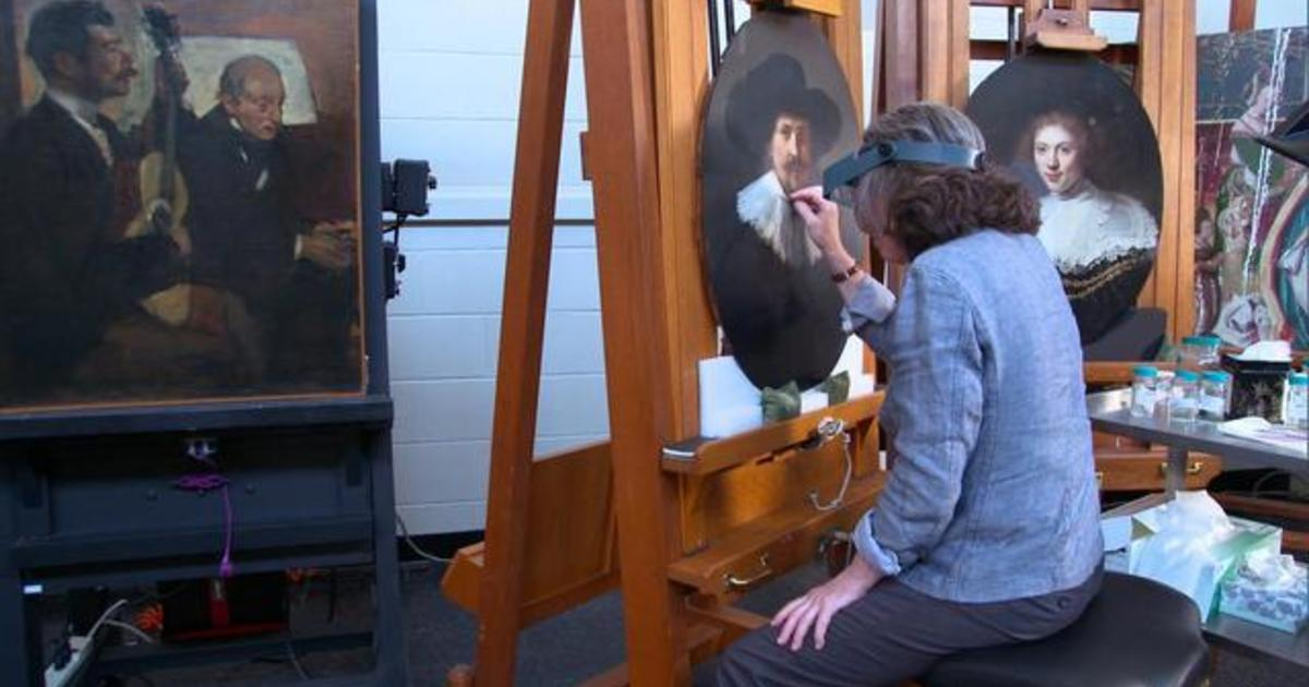 Art restorers: Making the old new