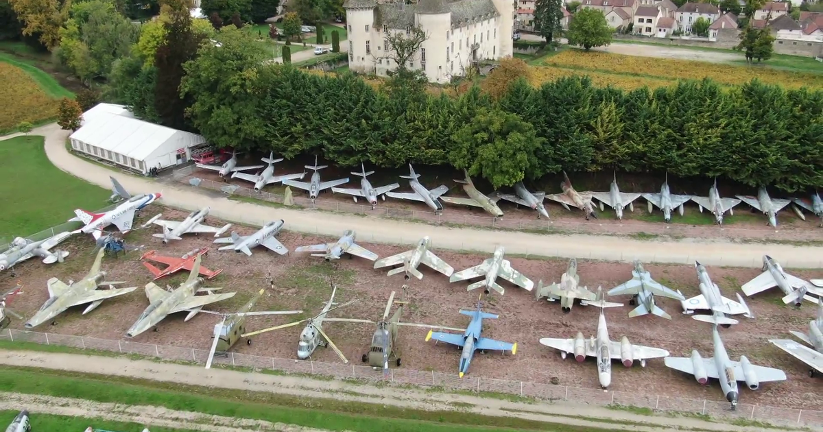 World's largest collection of fighter jets is nestled in the middle of France's Wine Country