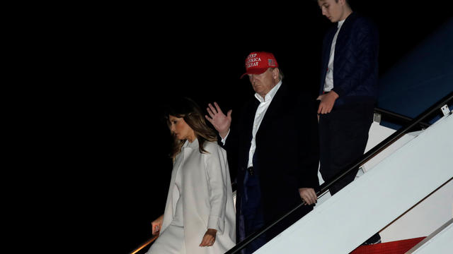 President Donald Trump arrives in Maryland after Thanksgiving vacation