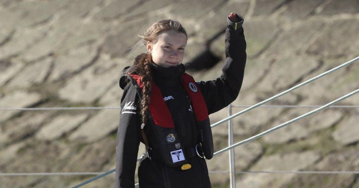 """""""We will continue the fight"""": Greta Thunberg arrives in Lisbon for climate summit after 3-week trip across Atlantic"""