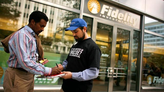 Activists Protest Mutual Fund Companies With Darfur Investments