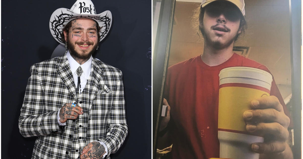 Post Malone gives away new Crocs at the fast food joint he worked at as a teen