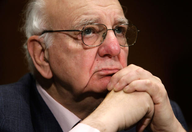 Paul Volcker, chairman of the President's Economic Recovery Advisory Board and former Federal Reserve Board chairman, testifies during a hearing before the Senate Banking, Housing and Urban Affairs Committee on Capitol Hill February 4, 2009, in Washington