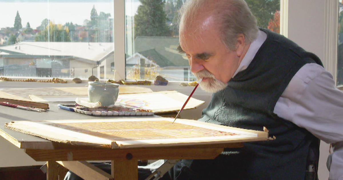 Mouth Foot Painting Artists These Painters Who Do Not Want To Be Labeled Disabled Artists Have Gained Independence Through The Sales Of Their Holiday Card Designs Cbs News