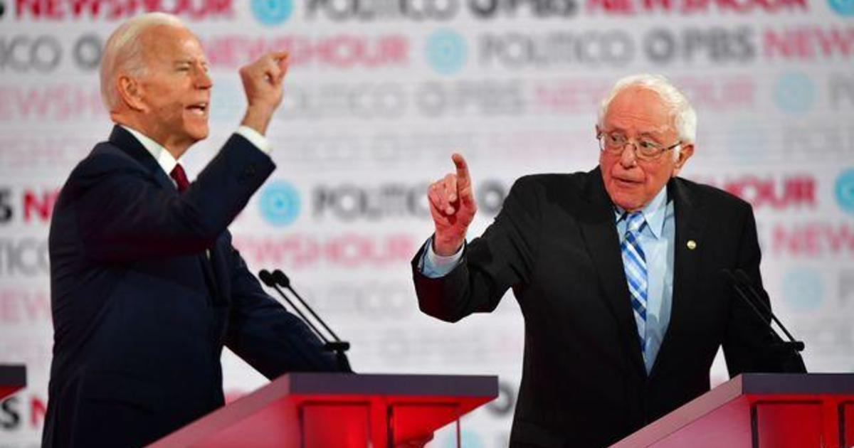 """Biden accuses Sanders campaign of sharing """"doctored"""" video of the former vice president's comments on Social Security"""