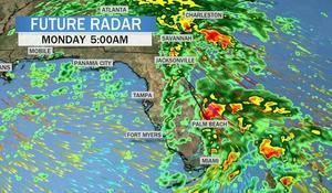 Heavy rain hits the Southeast