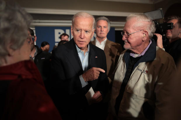Democratic Presidential Candidate Joe Biden Campaigns  To Iowa