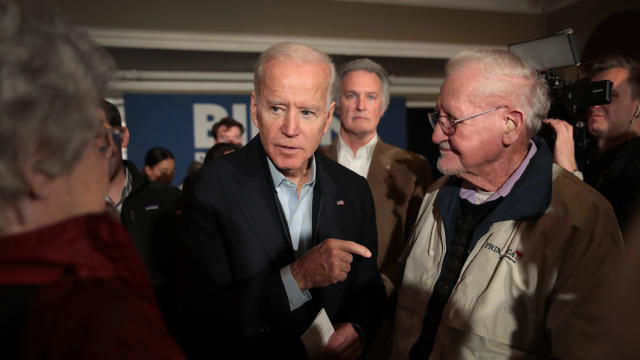 Democratic Presidential Candidate Joe Biden Campaigns  To Iowa
