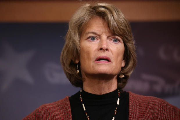 U.S. Senator Murkowski addresses news conference after competing measures to end the partial U.S. government shutdown fell short on Capitol Hill  in Washington