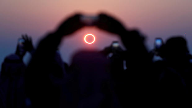 """Stunning photos of the """"ring of fire"""" solar eclipse"""