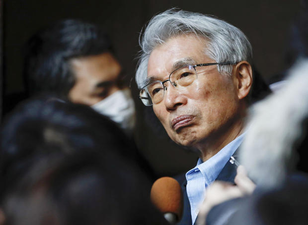 Junichiro Hironaka, chief lawyer of the former Nissan Motor chairman Carlos Ghosn, speaks to reporters in Tokyo