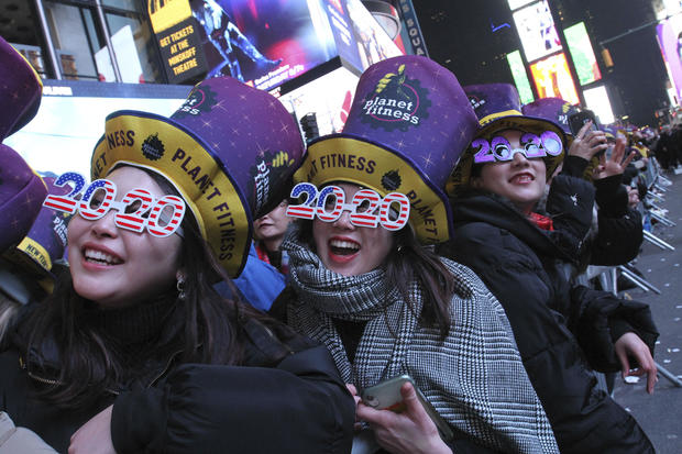 APTOPIX New York New Year
